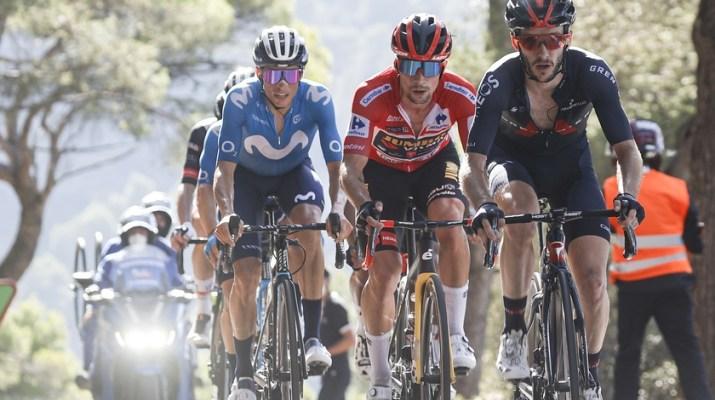 Enric Mas Primoz Roglic Adam Yates - 7e étape Tour d'Espagne Vuelta 2021 - ASO GOmezSport Luis Angel Gomez.jpg