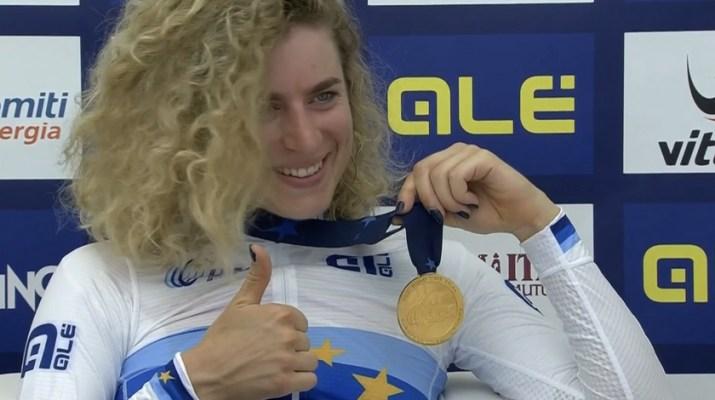 Marlen Reusser - Championne d'Europe Contre-la-Montre 2021 - Capture Eurosport