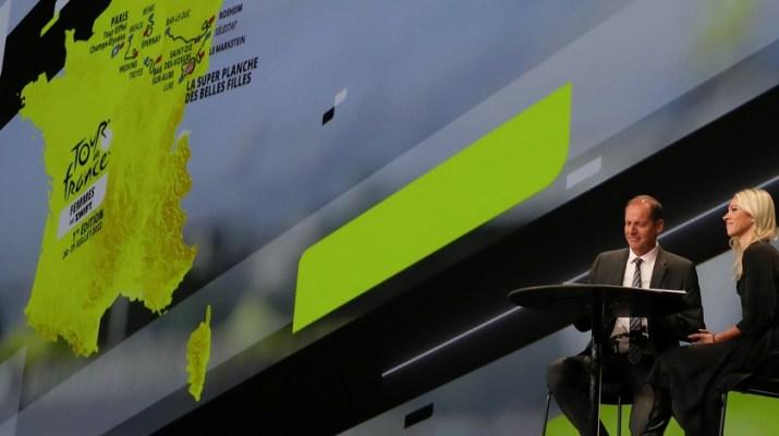 Présentation Tour de France Femmes 2022 - Christian Prudhomme et Marion Rousse - ASO Fabien Boukla