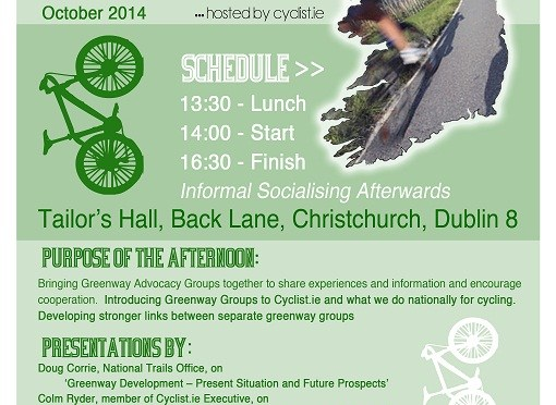 Gathering of Greenway and Rural Cycleway Groups in Ireland Sat 18th Oct