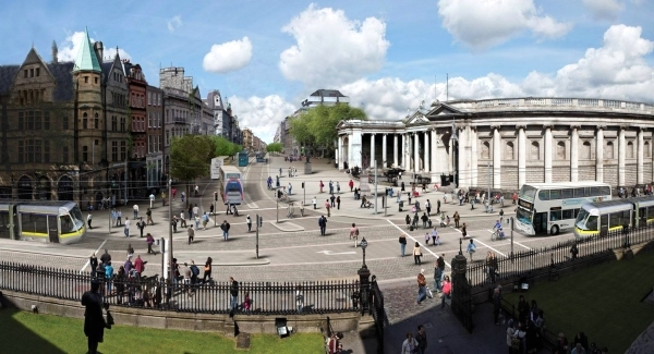 Dublin traffic plan proposes banning cars from key city streets
