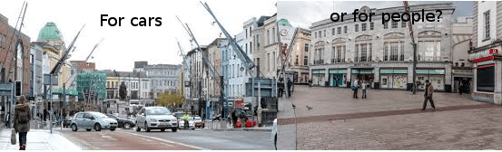 Cyclists support the Patrick Street car ban (Cork)