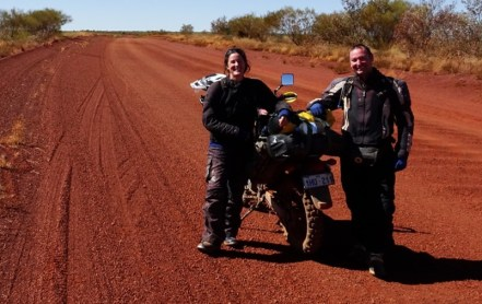 A couple of MCers. There were/are more cyclists than MCers on the Tanami. Clearly not on the MC to do list