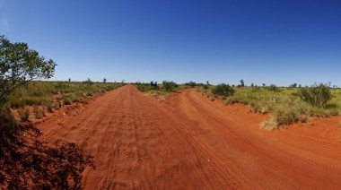 The Nyarna turn-off off the Canning Stock Route heading north. It would be a paradise after 700-something sand dunes and weeks of humping it along the CSR