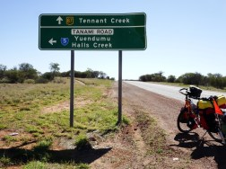 The Tanami Road turn-off saves me more climbing