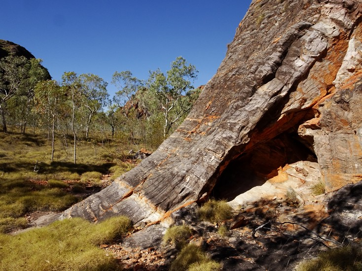And it's peeled away from the underlying rock. Geology in action