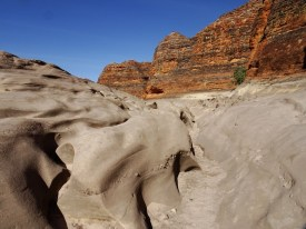 Powerful water must flow down here in the wet season
