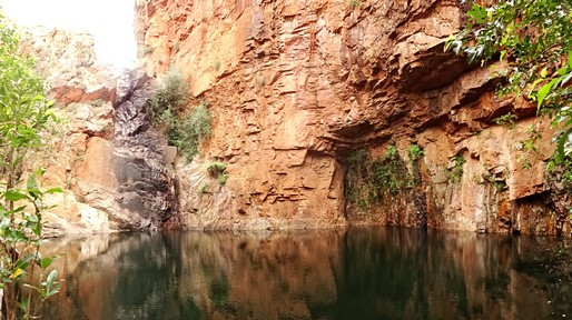 Hermans' Hideaway. Damned hard to get the cliffs AND the water in the same photo