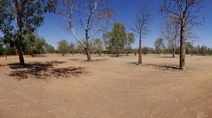Dry as. Normally this is all green grass campliand