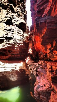 The ledges leading to the End of The NO ACCESS Canyon