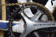 Pidcock opted for a 1x11 Shimano setup, so fitted a 42t Wolf Tooth Chainring to accommodate his preference