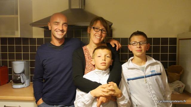 Stéphane, Cathy, Niels & Mathéo