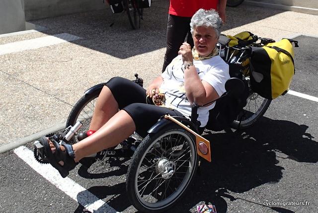 Pour éviter les chutes, Irène est passée au trike (trois roues)