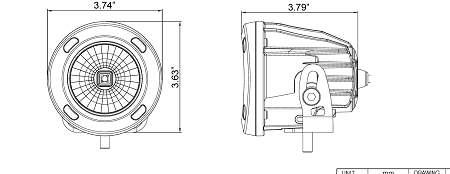 Long Range Optimus LED Auxiliary light Round