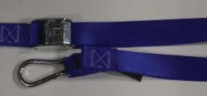"1.5 inch Cam Buckle Tiedown with ""S"" Hook and Carabiner"