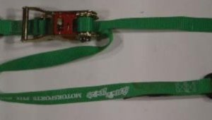 """1 inch Ratchet Tiedown with """"S"""" Hooks"""