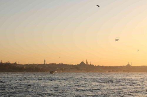 Fin de journée sur la mer de Marmara