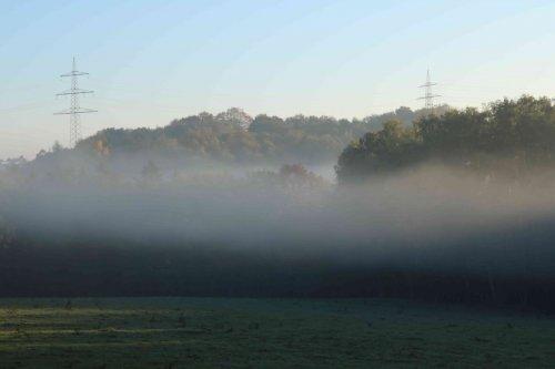 Brume du matin sur la campagne
