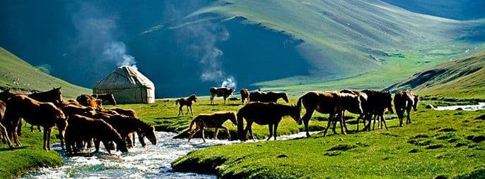 Kyrgyzstan mountain scape