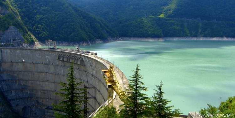 Georgia travel guide Enguri Dam