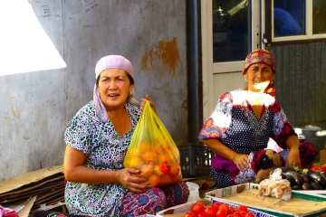 The typical Central Asian Bazar of Turkestan
