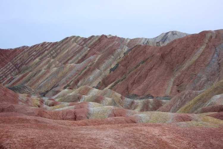 Danxia Shan park Zhangye montagne colorate