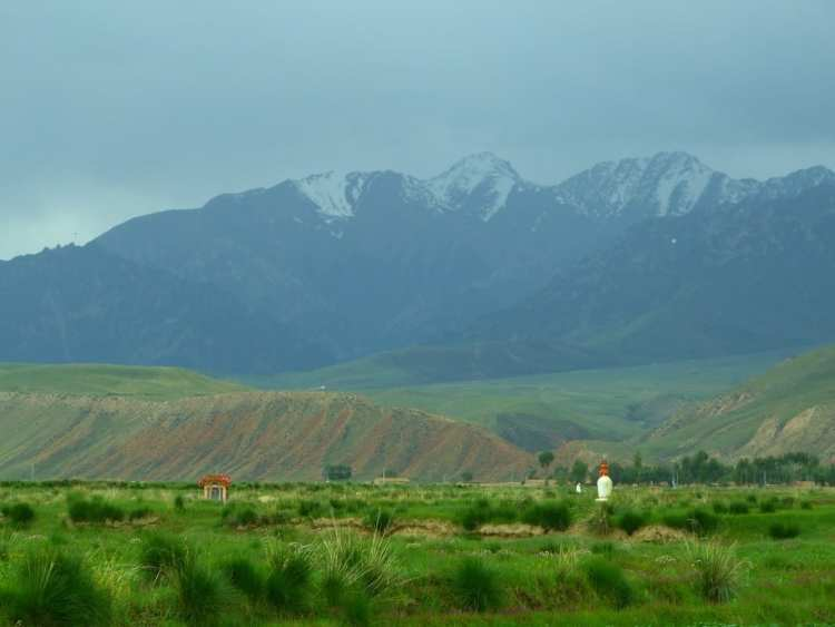 Qinghai, buddhism, stupa, mountains