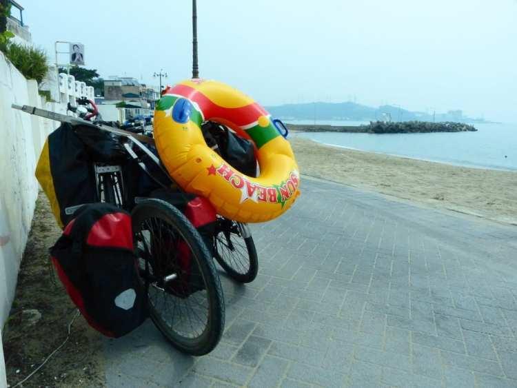 cicloturismo spiagggia Imnog beach Sud Corea