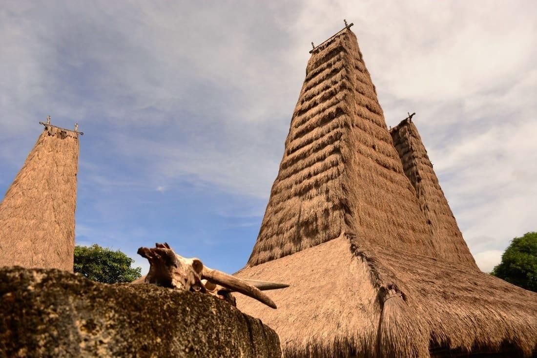 traditional houses Sumba Indonesia