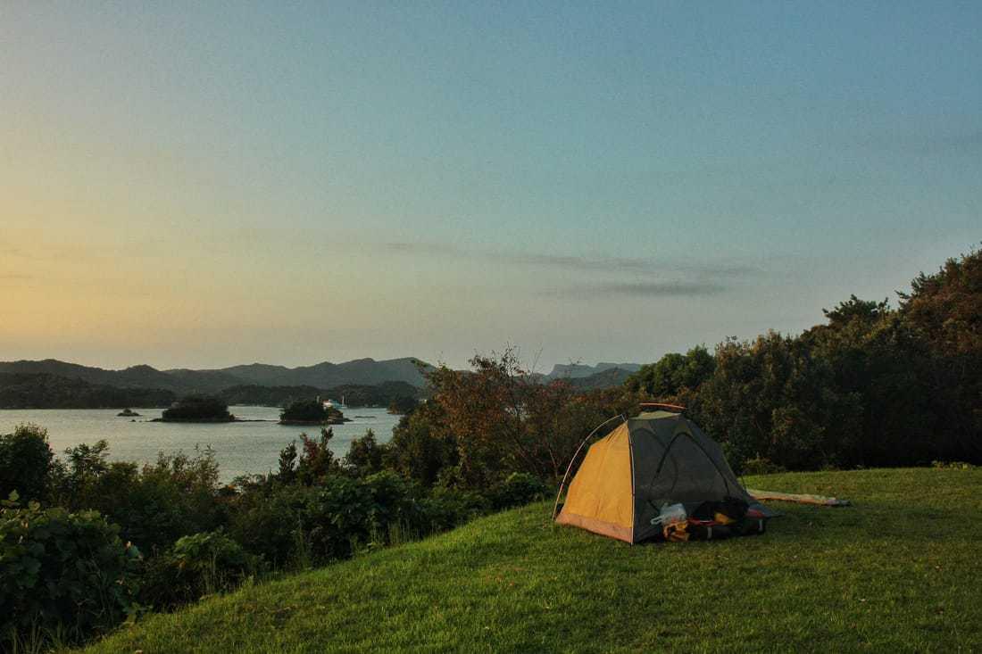 campeggio libero in Giappone