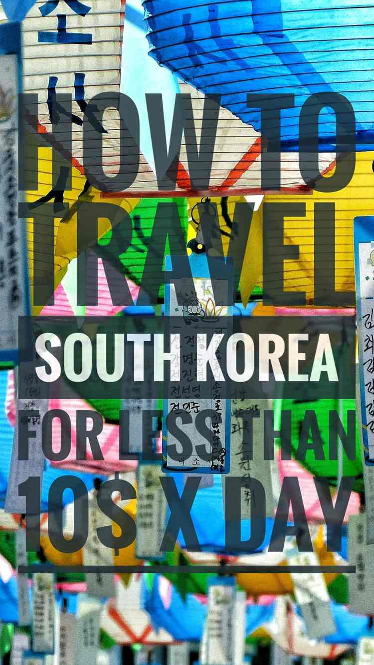 budget travel south korea
