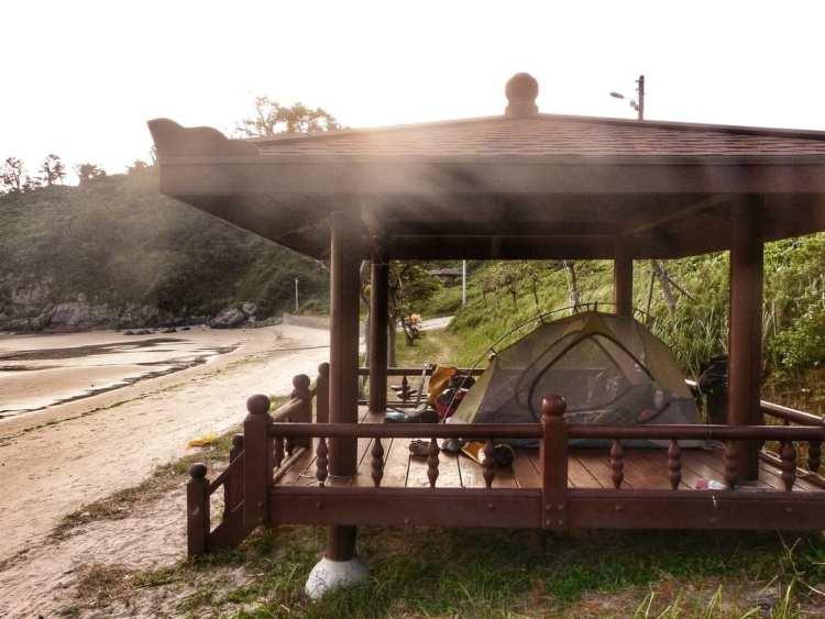 free camping south korea
