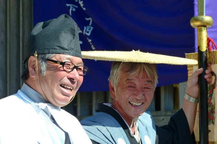 Shinto priests Shirakawa Go