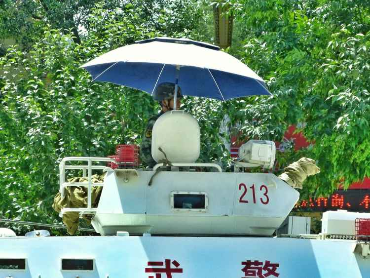 Tank Urumqi political unrest xinjiang