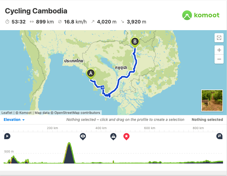 Cambodia Cycling Map Route GPX
