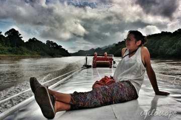 Traghetto pubblico Belaga - Kapit - Sibu. Un economico viaggio in barca sul fiume Rajang 24