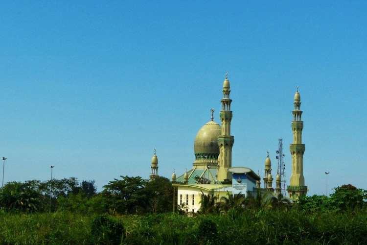 Kampung Pandan moschea a Kuala Belai. Brunei