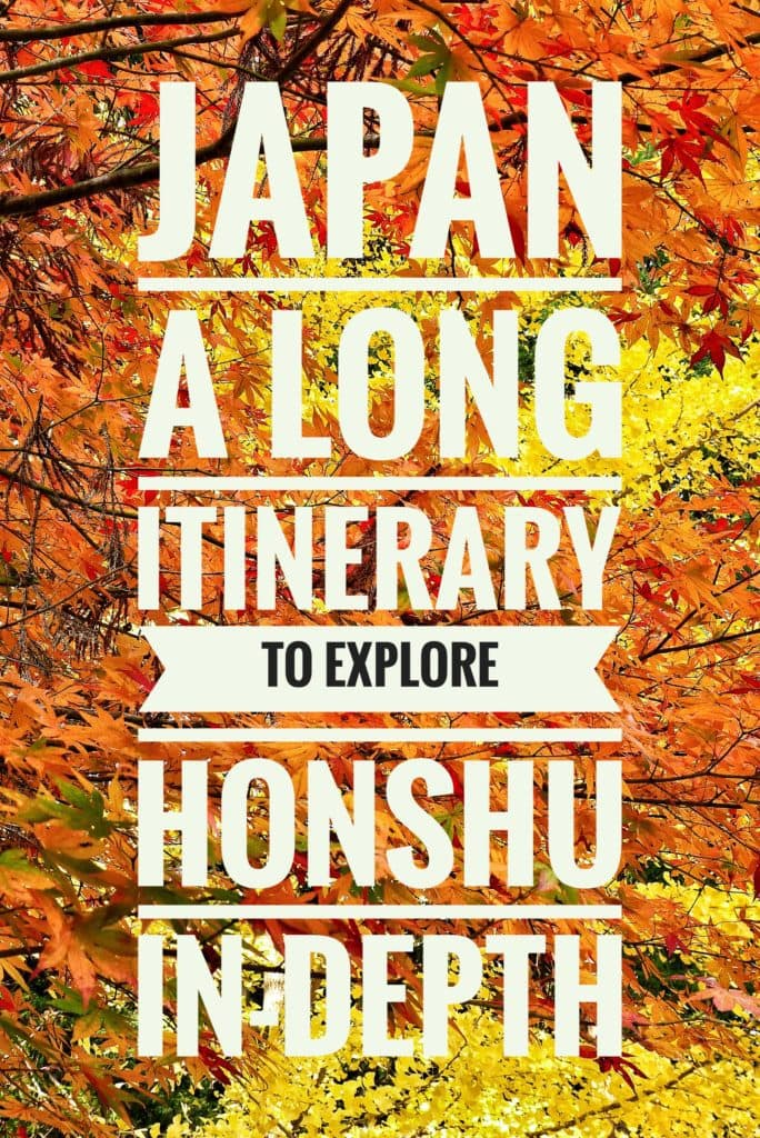 honshu itinerary japan