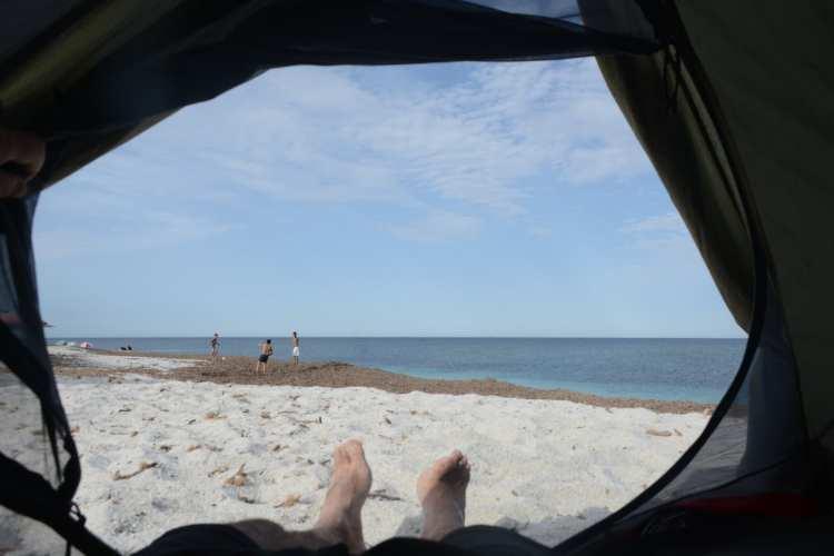 Campeggio libero in Sardegna