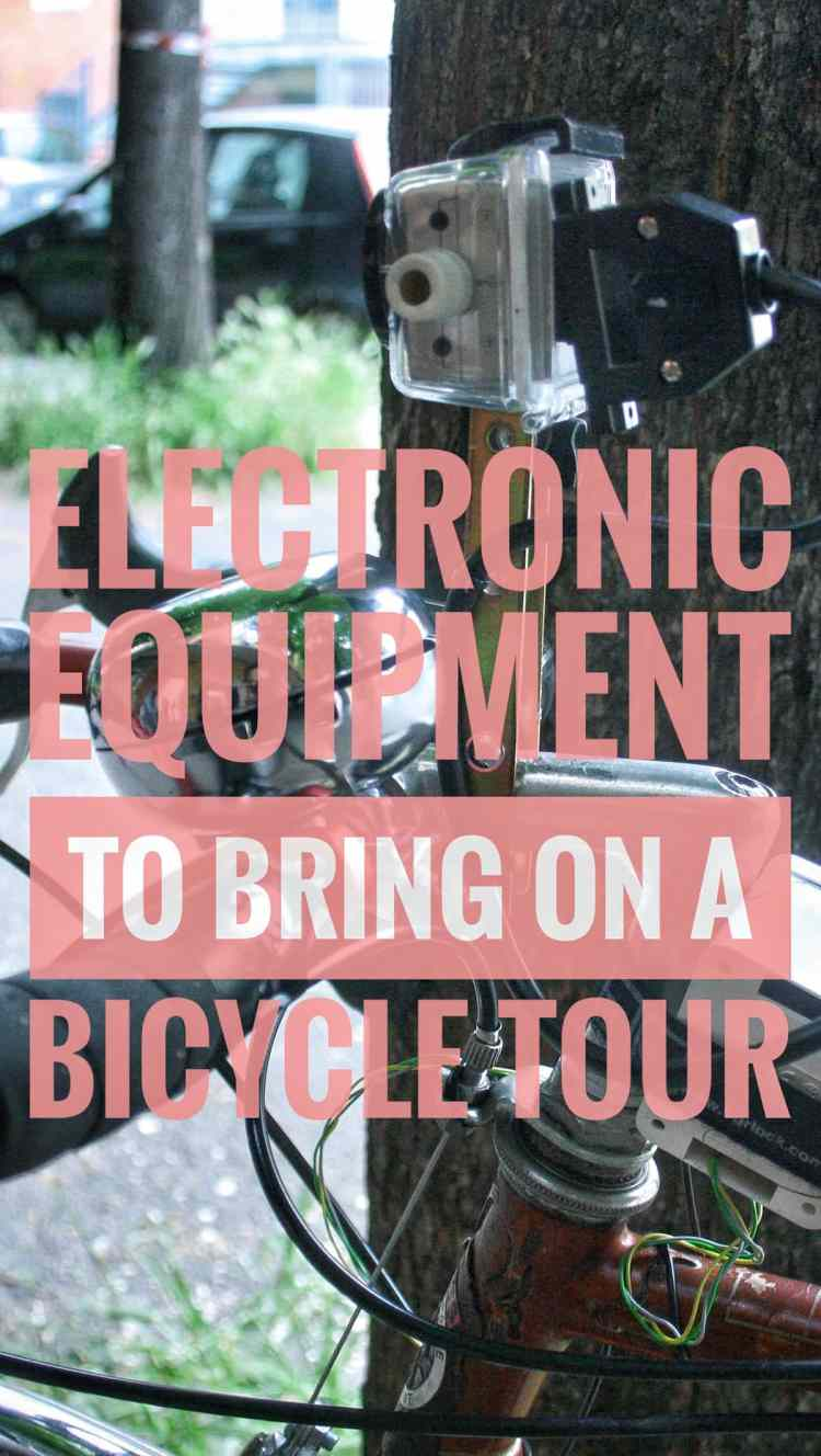 Electronic gear bicycle touring