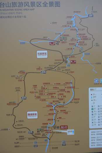 Mappa Monti Tiantai