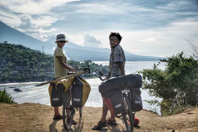 bicycle touring bali indonesia