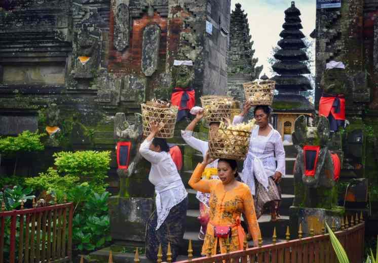 Cicloturismo Bali Kintamani templio