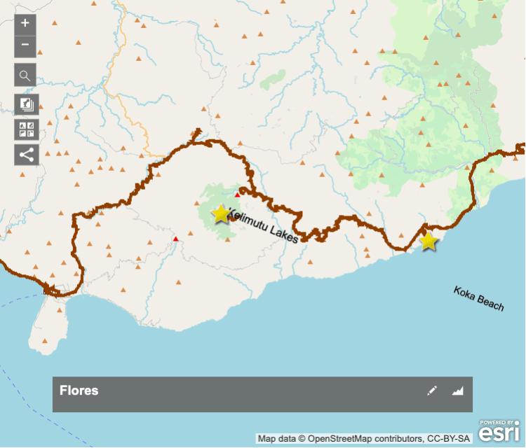 Koka Beach Maumere Map