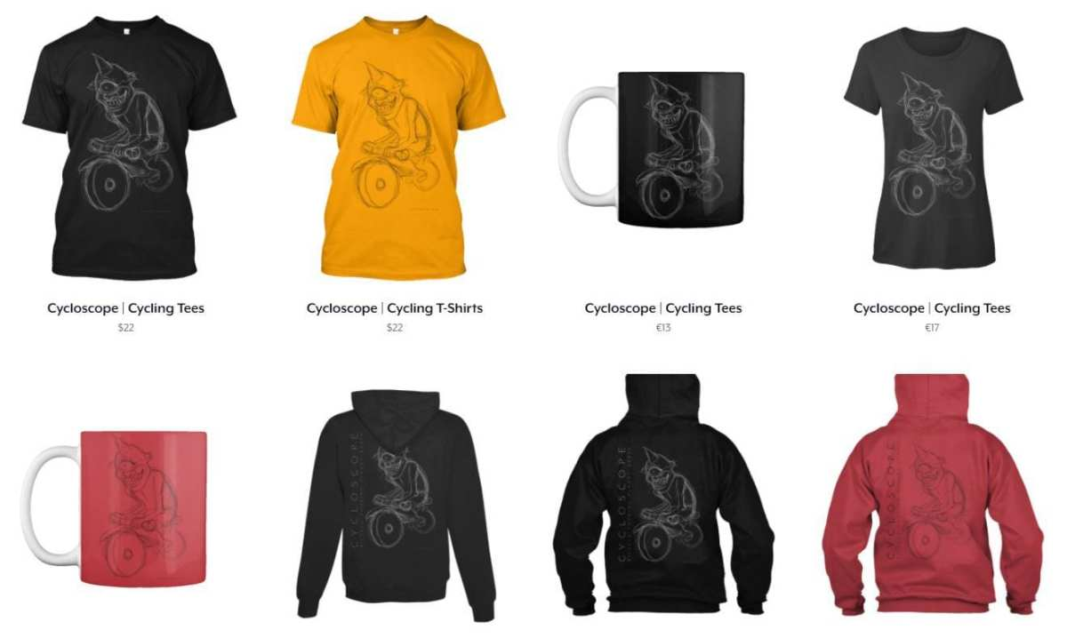 bicycle touring tees gifts
