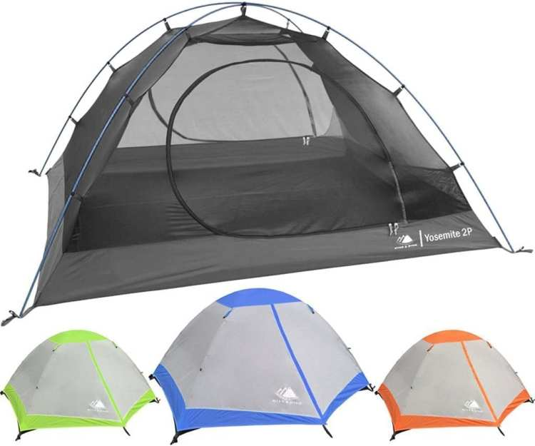 Backpacking Tent Hyke & Byke Yosemite Two Person with Footprint