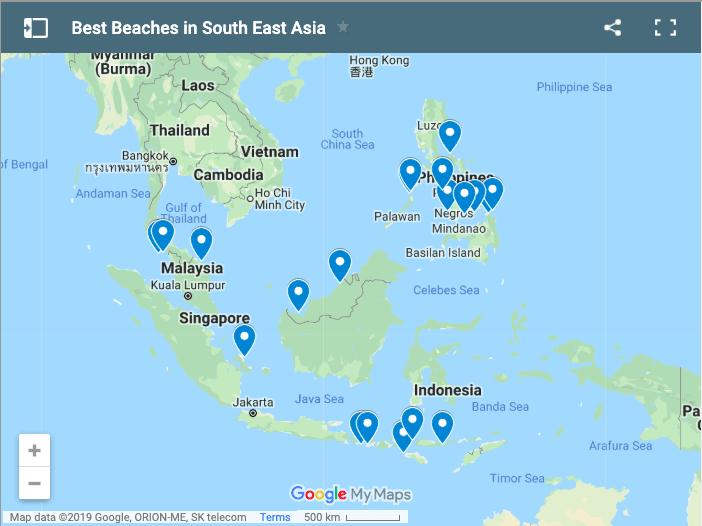 beast beaches southeast asia map