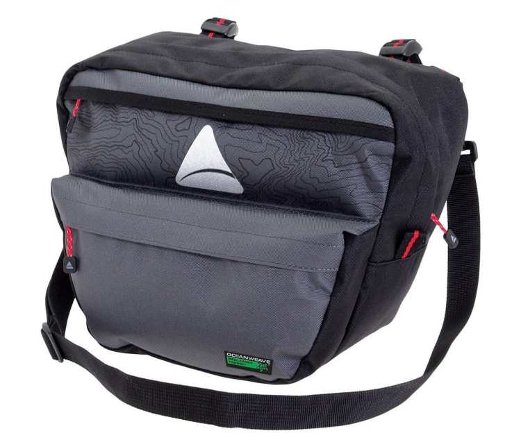 bike commuting Axiom Seymour Oceanweave handle bar bag