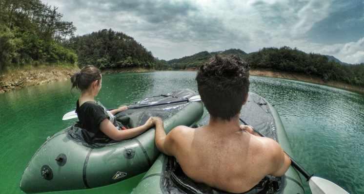 Lago delle mille isole in barca