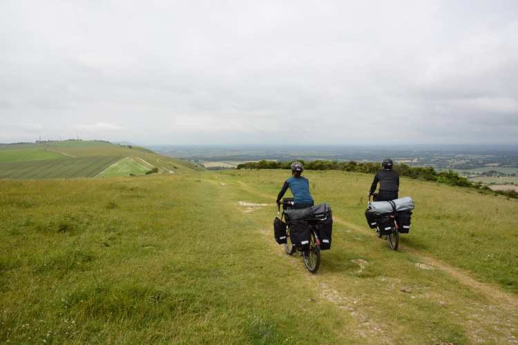 cicloturismo south downs Inghilterra